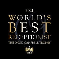 World's Best Receptionist 2021 - The David Campbell Trophy, Hosted by the AICR